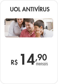 UOL Antiv&iacute;rus - R$14,90 mensais